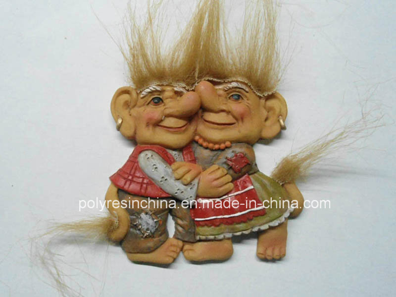 Polyresin Troll Family of Troll Crafts