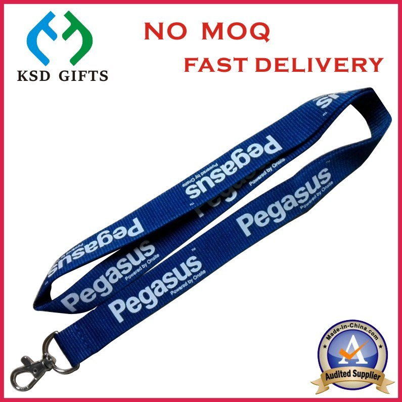 Customized Silk Printed Logo Hot Sell Cheap Neck Lanyard Badge