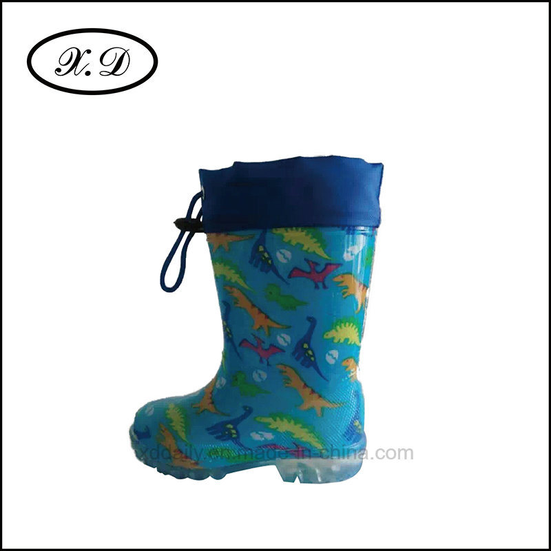 Rain PVC Fashion Kids Boots with Refined Mouth (BX-030)