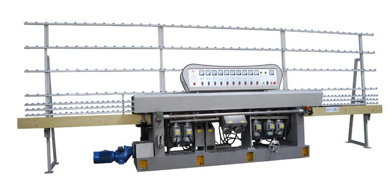 9 Motors 45 Glass Straight Line Edging Machine