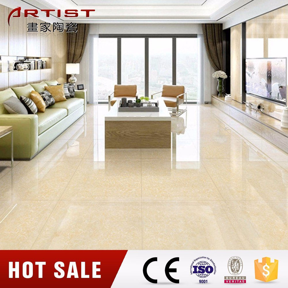 Floor Ceramic Tiles Polished Porcelain Tiles Floor Ceramic Tiles Beige Color Pulati Tile
