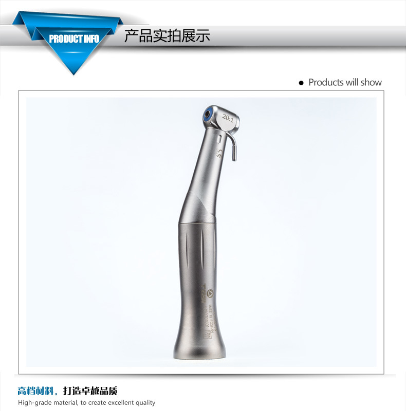 Hot Sell K Type 20: 1 Reduction Implant Contra Angle Dental Handpiece