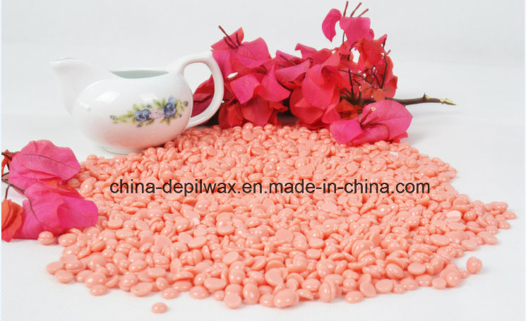 Depilatory Wax Pink Sensitive Hard Wax Pellets of Painless Waxing