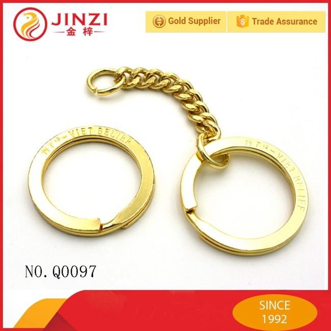 Custom Metal Type with Logo Engraved Key Ring/Keychain