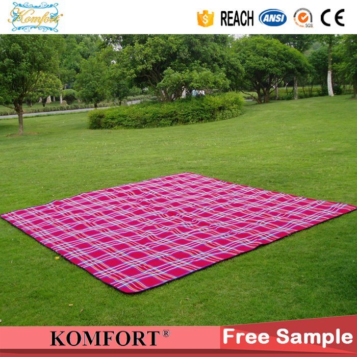 Polar Fleece Water-Resistant Outdoor Camping Beach Mat Picnic Hiking Blanket