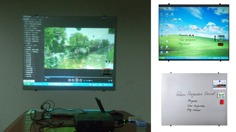 Frosted Tempered Glass Projection Screen with Magnetic Function