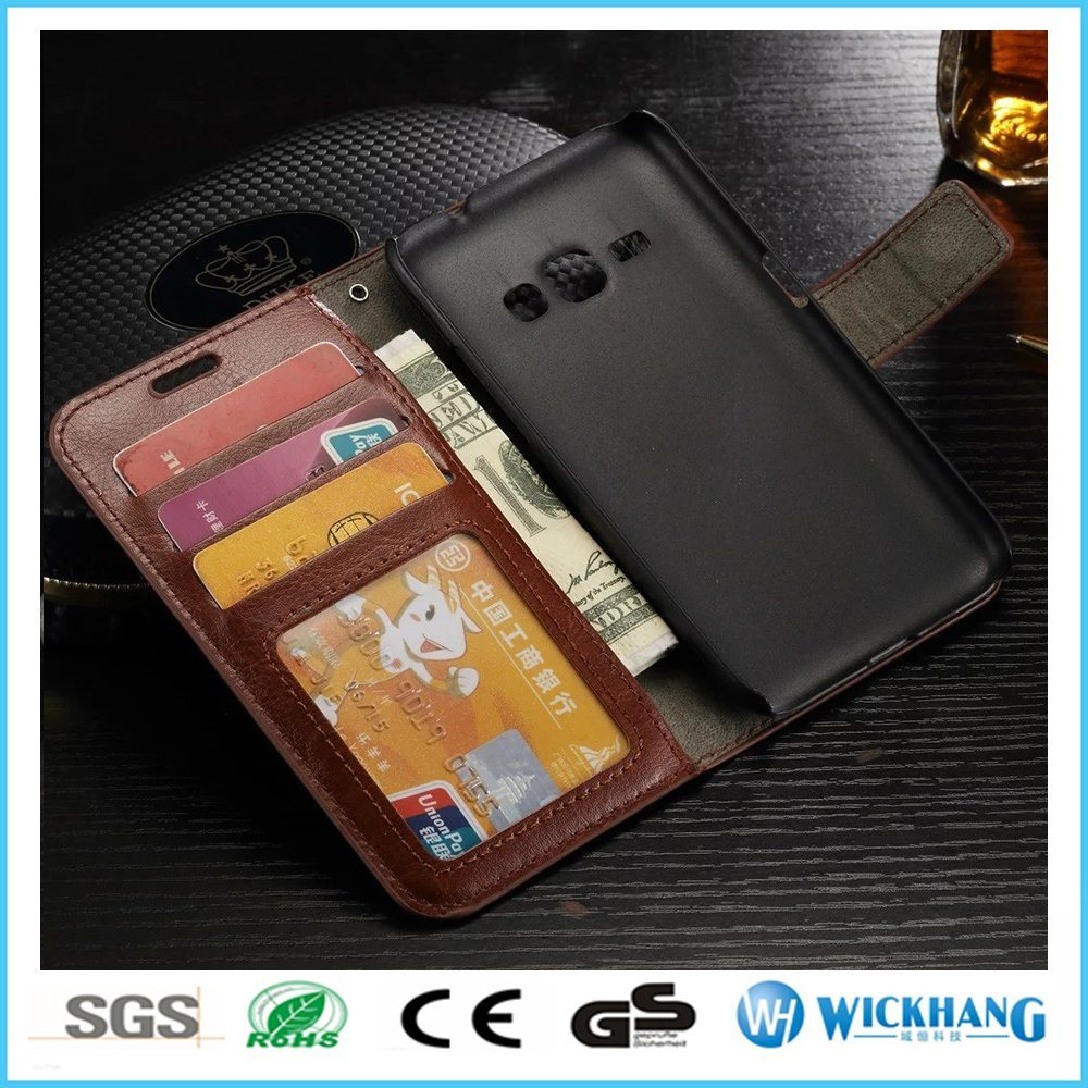 Leather Wallet Flip Case for Mobile Phone