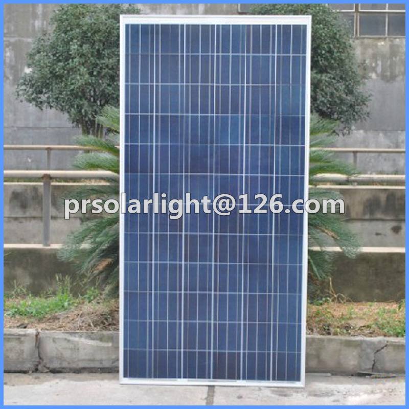 150W High Efficiency Poly Renewable Energy Saving Tempered Glass Solar Panel