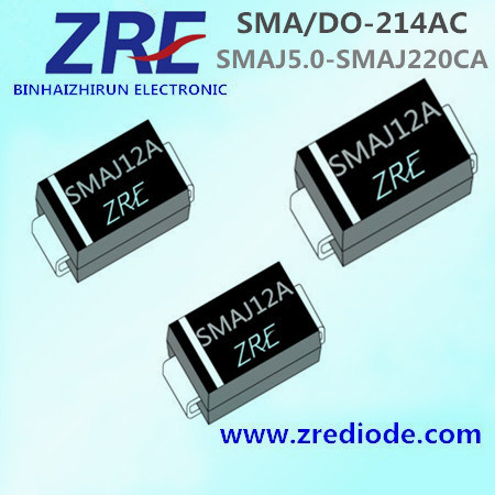 400W Surface Mount Tvs Smaj5.0 Thru Smaj220ca Diode SMA/Do-214AC Package
