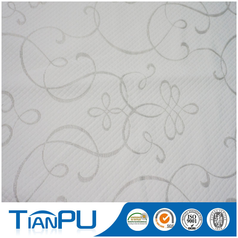 100% Polyester PU Coated Jacquard Fabric for Mattress Protector
