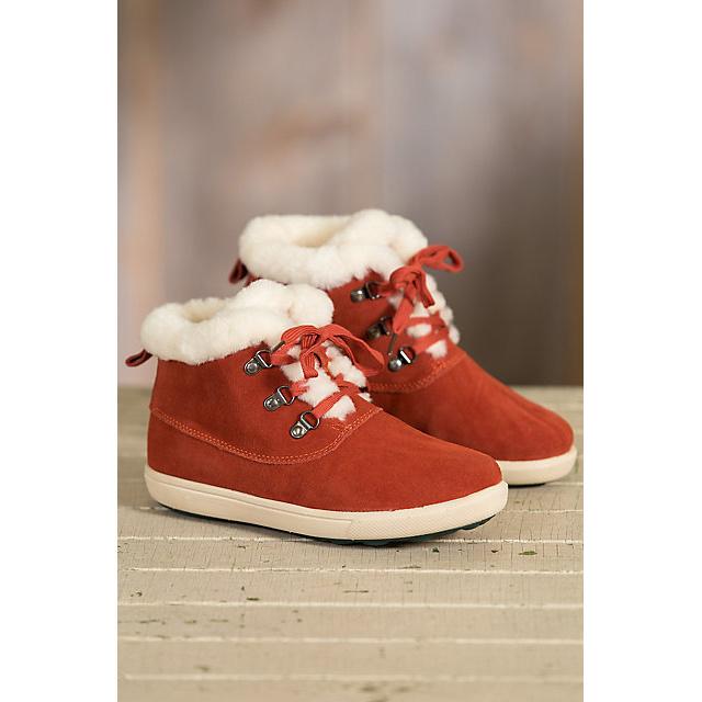 Women′s Shearling-Lined Suede Hi Top Sheepskin Shoes