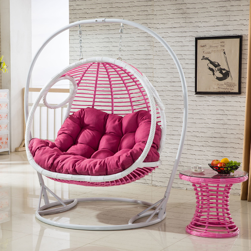 Garden Furniture Double Swing, Rattan Furniture, Rattan Basket (D155A)