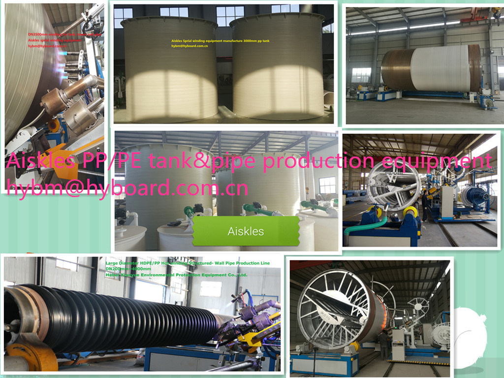 Large Diameter HDPE/PP Structured- Wall spiral Winding Pipe Production Line