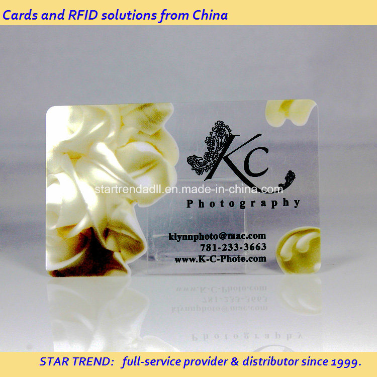 Full Colors Transparent PVC Magetic Stripe Card for Business Card