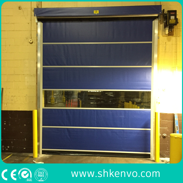 Pharmaceutical Drug PVC Fabric High Speed Fast Rapid Roller Shutter Door