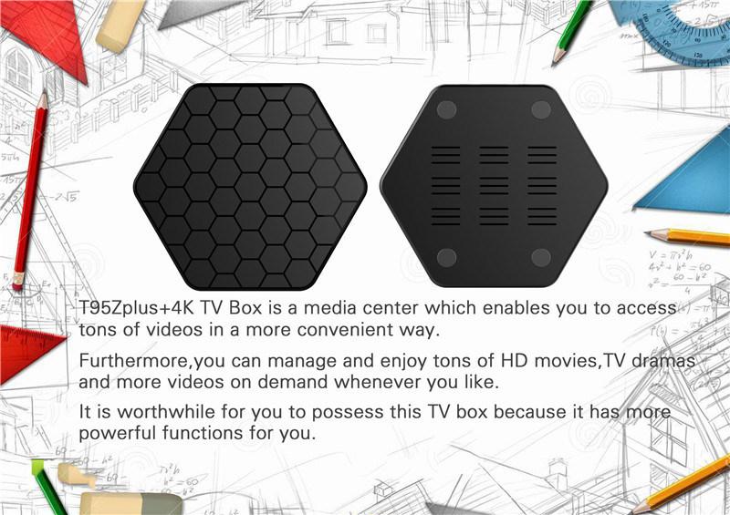 Fashionable Amlogic S912 Pendoo T95z Plus Smart TV Box