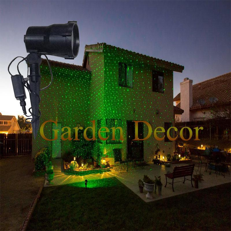 Outdoor Christmas Laser Lights Show Projector with Remote Staticstar Projection Shower for House Party Yard Garden Tree Lighting