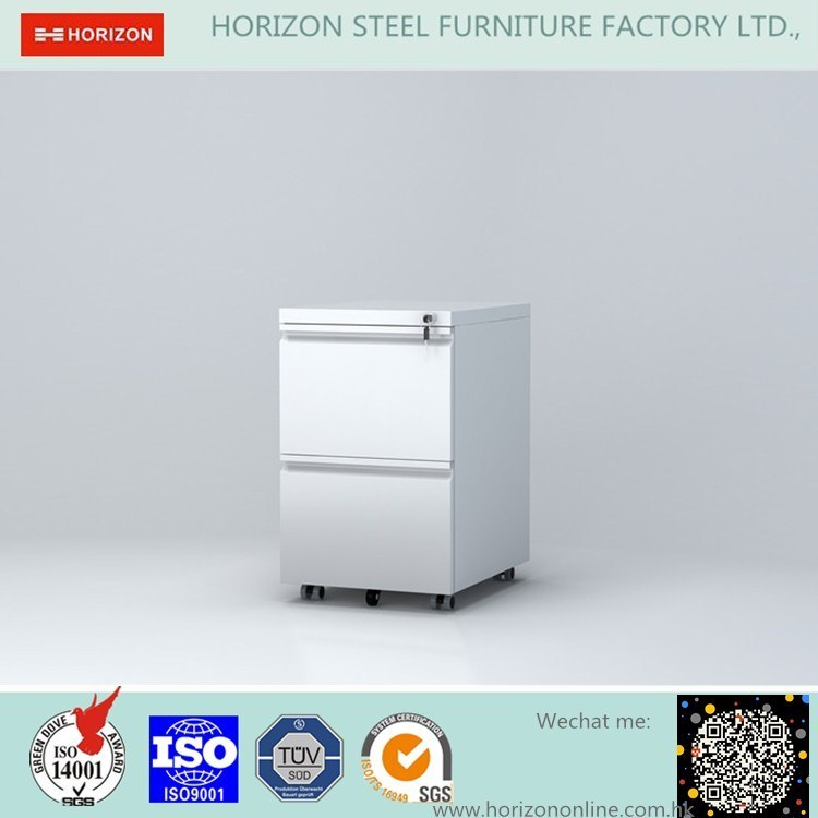 Steel Mobile Filing Cabinet with 3 Drawers and 5 Wheels