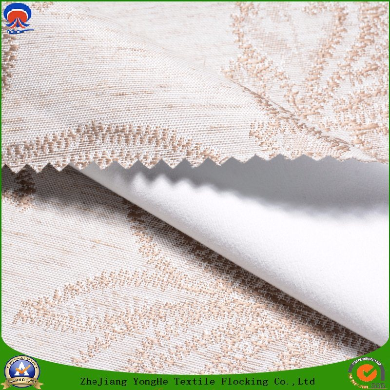 Home Textile Waterproof Fr Blackout Woven Polyester Linen Curtain Fabric for Window