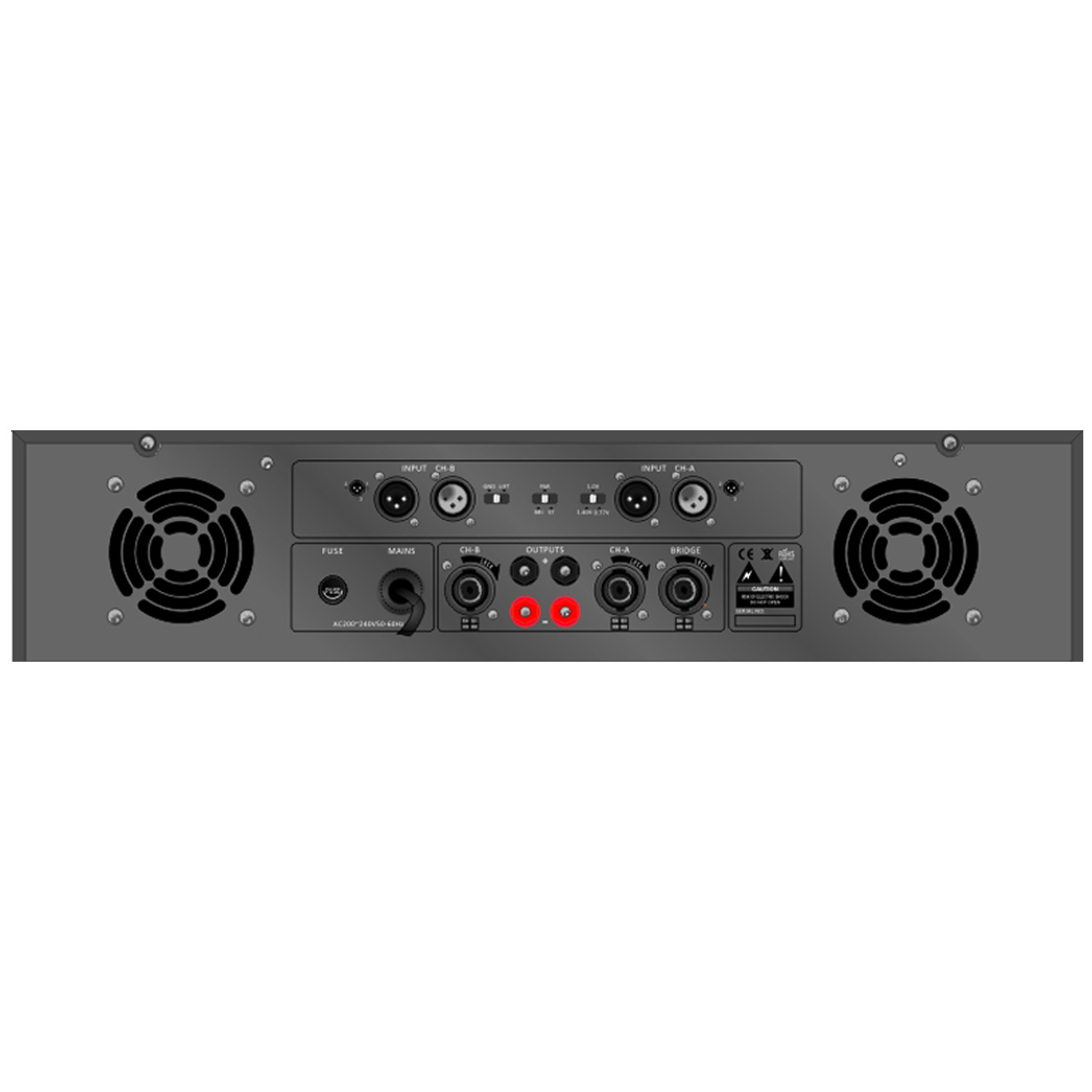 Public Address Professional Power Amplifier Se-2300 Series