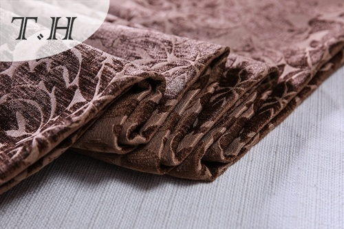 Dyeing Chenille Jacquard Fabric for Chair and Sofa (FTH32093)