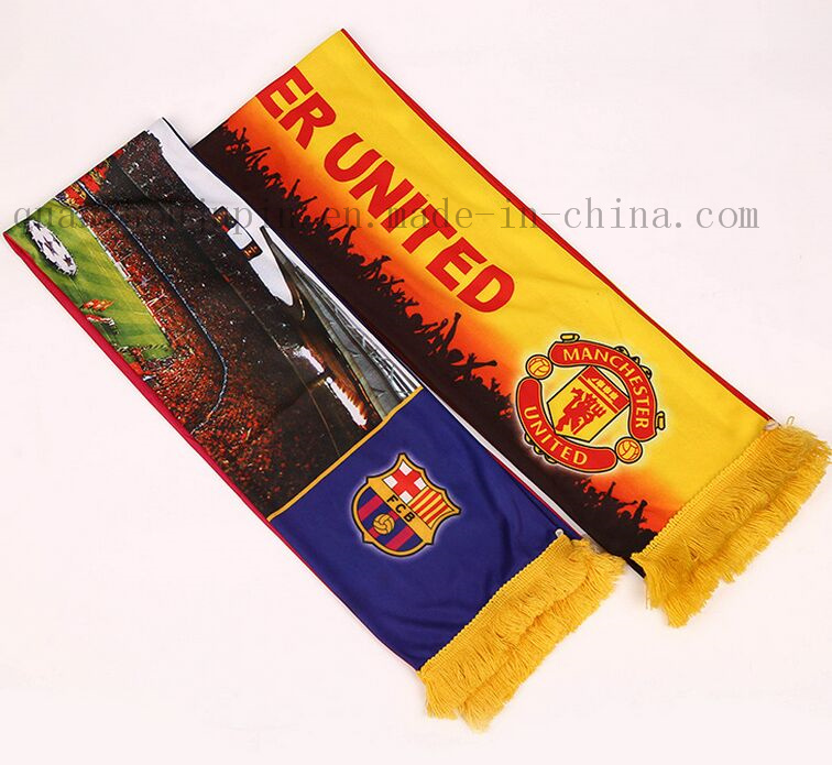 OEM Football Team Logo Fans Scarf for Football Match
