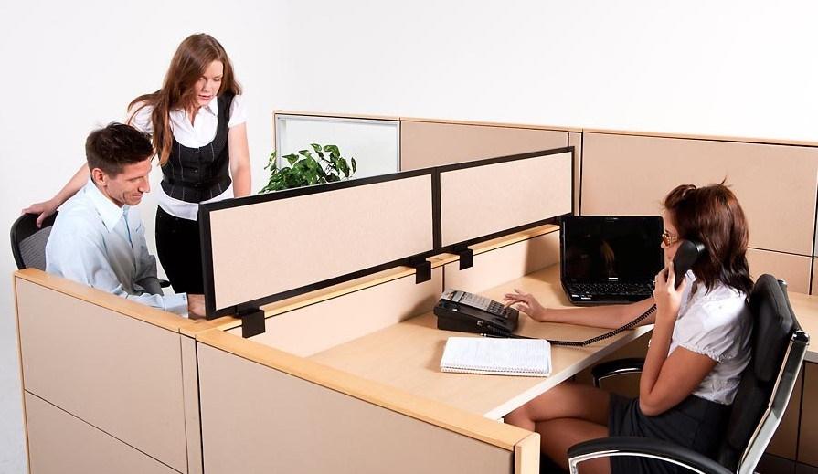 Hot Slling Fashion Environmental Board Fireproofing Modular Office Desk Screens