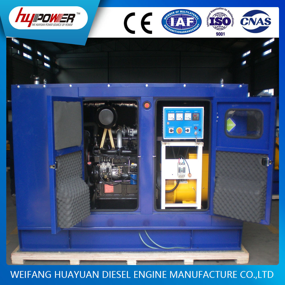 Weifang 28kw Silent Low Noise Standby Generator Sets