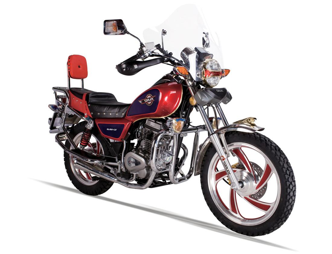 125/150cc Disc Brake Alloy Wheel Double Mufflers Motorcycle (SL125-C2)
