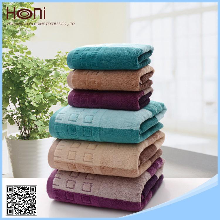 T-075 100% Cotton Striped Cotton Face/Hand Towels