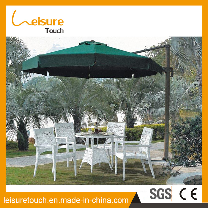 Stackable Rattan Hotel Restaurant Used Aluminium Wicker Table and Chair Garden Outdoor Furniture