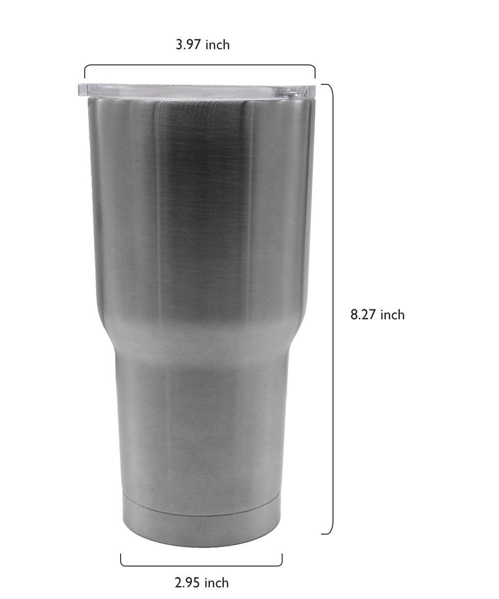 30 Oz. Insulated Tumbler, Stainless Steel Coffee Travel Mug Insulated Cup- Large Opening (Easy Clean) and 24h Cold-Keeping