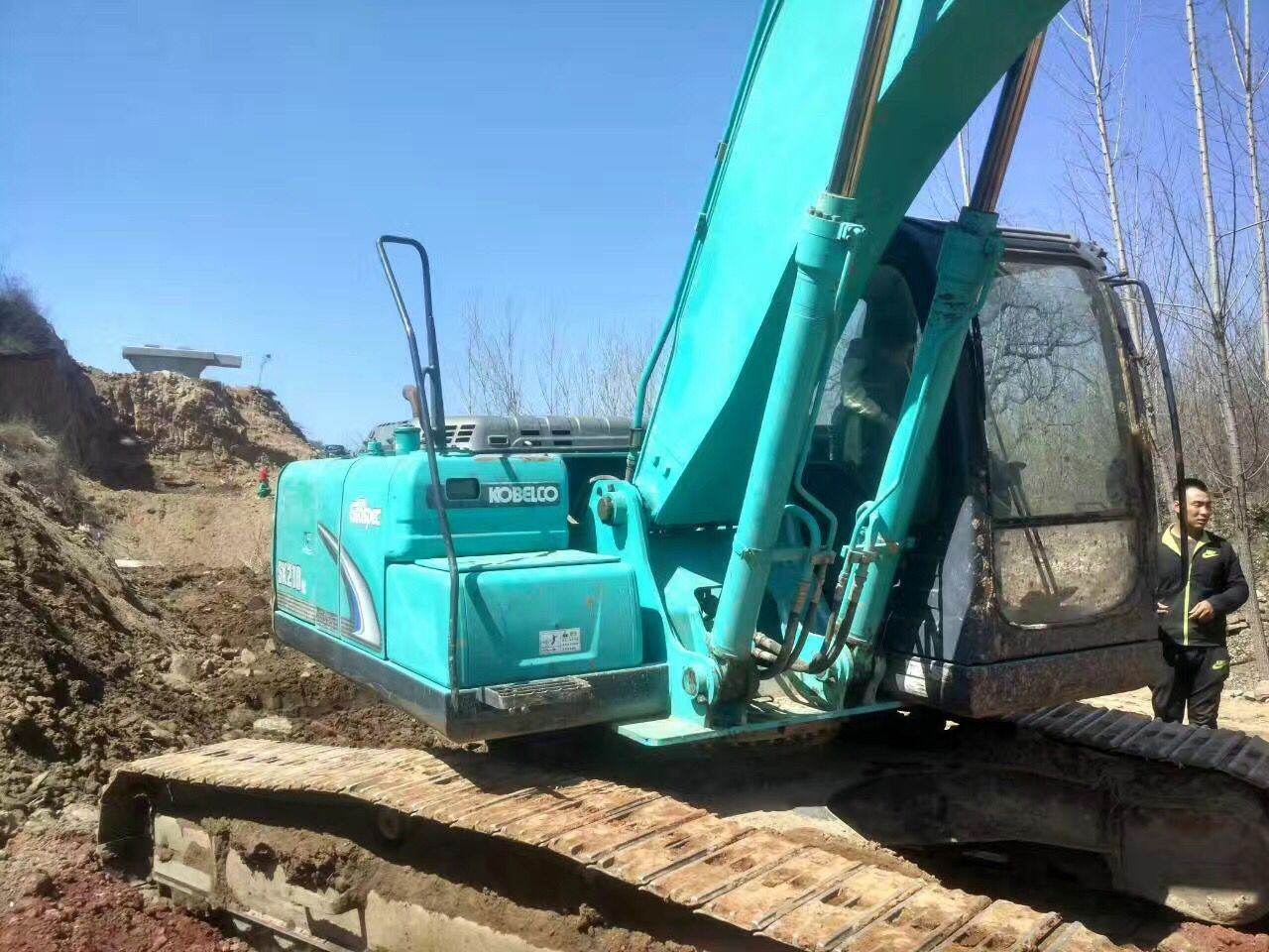 Very Good Working Condition Used Crawler Excavator Kobelco Sk210-8 (made in 2010) for Sale