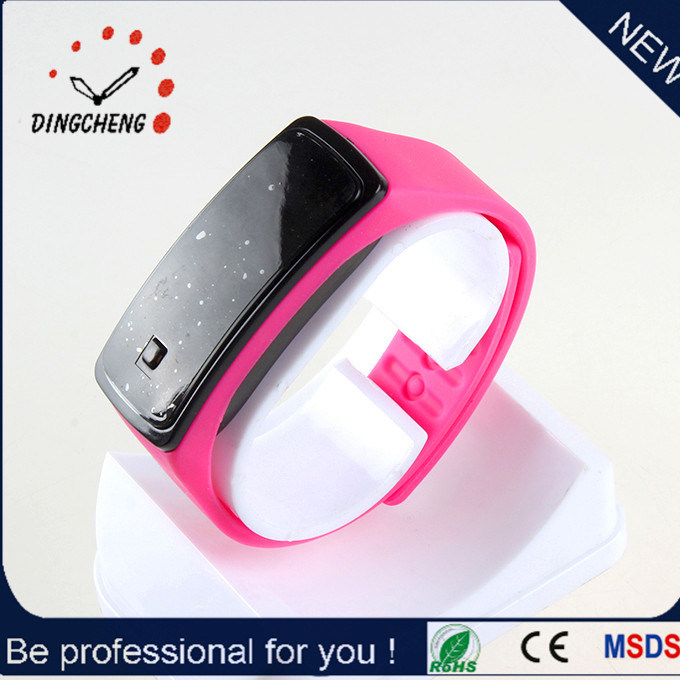 Silicone Wristband Automatic Watch with Milti-Color LED Light (DC-1167)