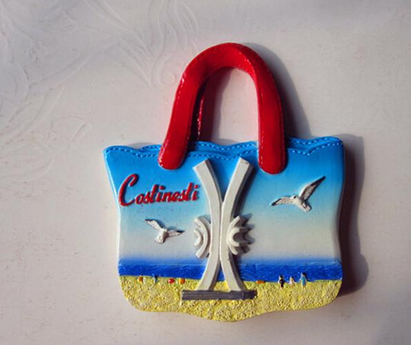 Custom Handbag Style Resin Fridge Magnet for Travel Souvenirs