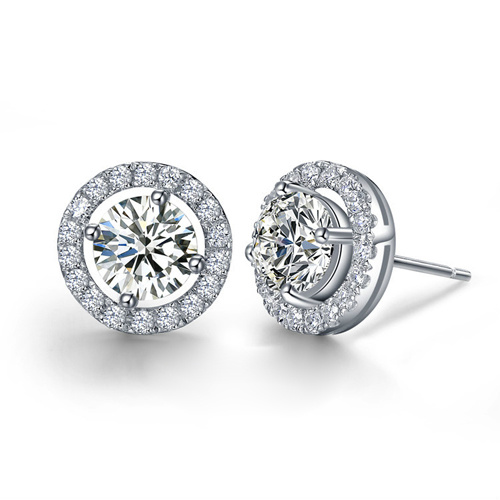 Best Quality 925 Sterling Silver Stud Wedding Earrings Jewellry