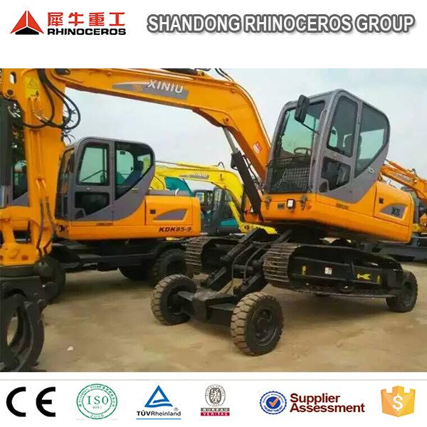 Hydraulic Excavator Wheel Excavator and Crawler Excavator Together