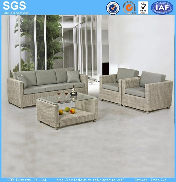 Resort Hotel Lesiure Furniture Synthetic Rattan Sofa