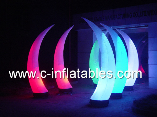 Inflatable Decoration/ Inflatable Event Decoration/Inflatable Tusk Decoration with LED Light / LED Light Inflatable Tusk Decoration for Advertising