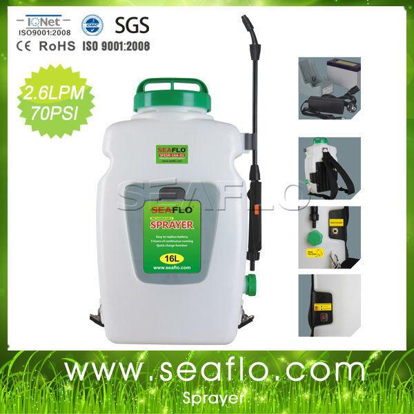 Power Sprayer Seaflo 12V 16liter Knapsack Battery Trigger Sprayer for Agriculture and Garden