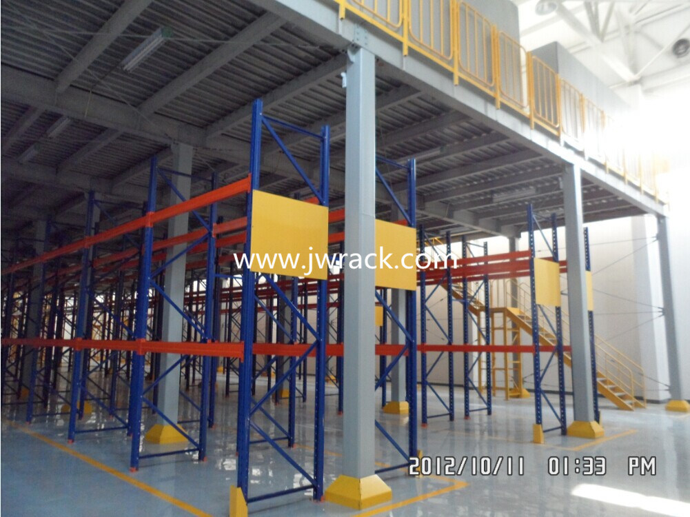 Warehouse Storage Multi Tier Steel Platform