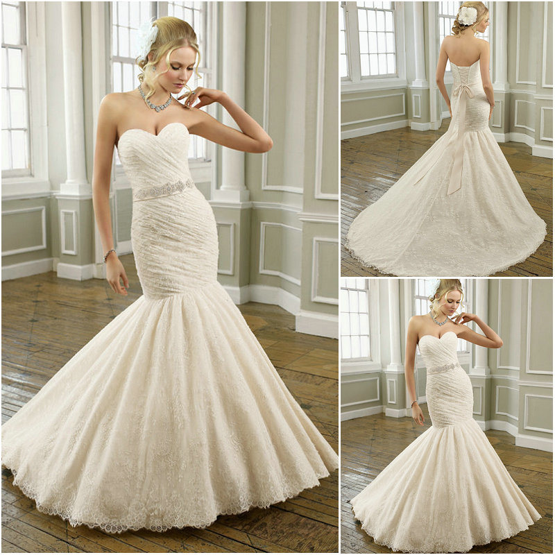 China sexy beaded lace mermaid wedding dresses sd032 for Beaded lace mermaid wedding dress