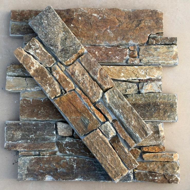 Wall Decoration Rusty Quartzite Cement Wall Cladding