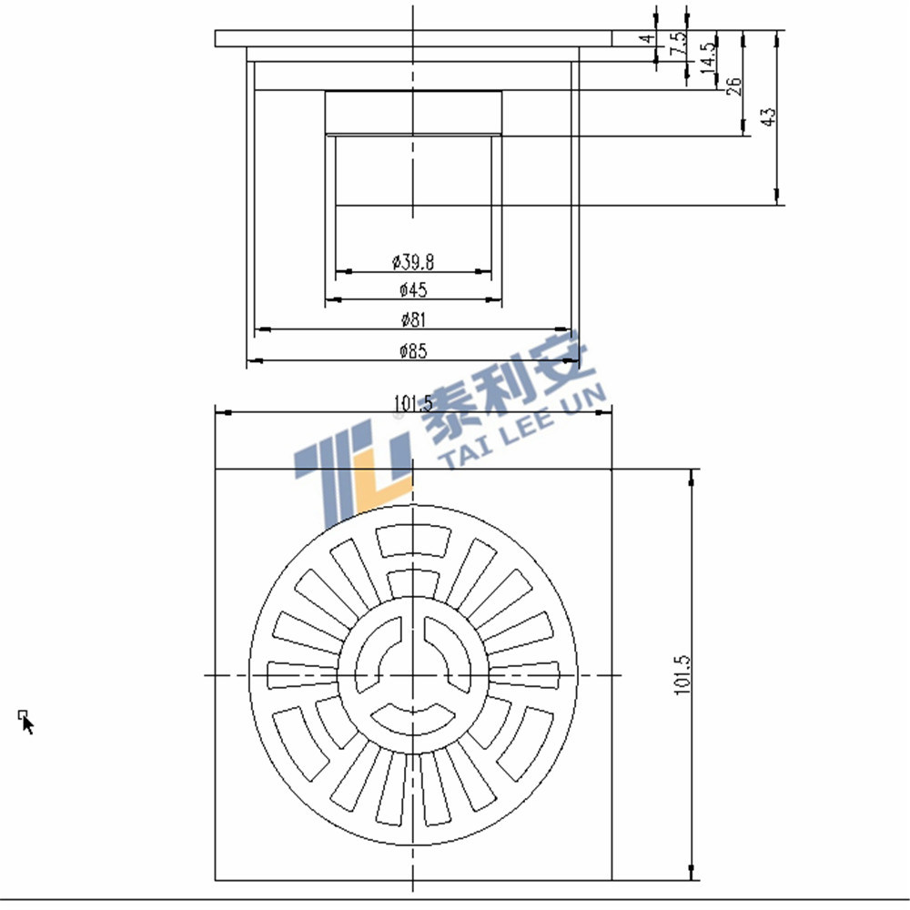 Sanitary Ware New Arrival Floor Drain for Bathroom (T1057)