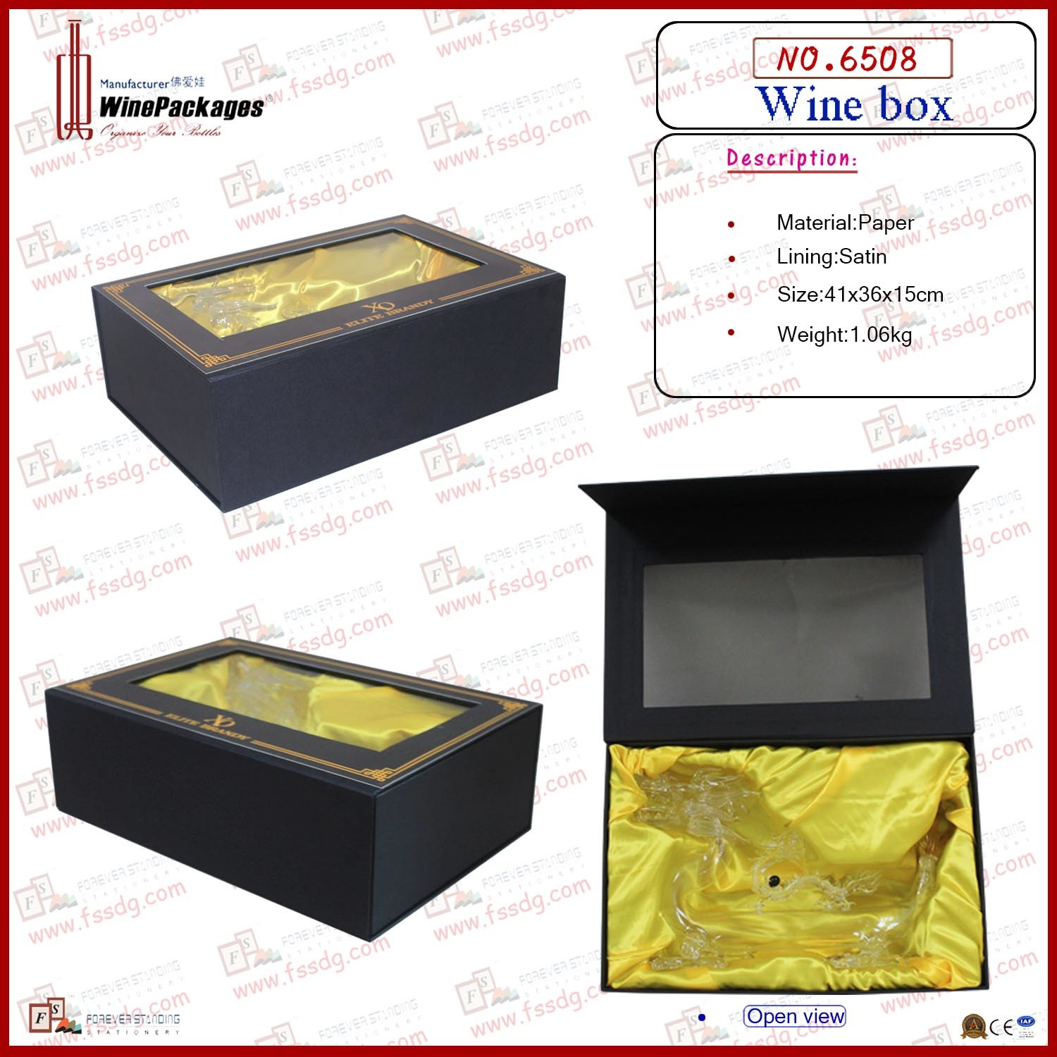 Luxury Special Wine Bottles Storage Box (6508)