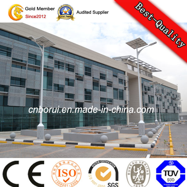 Hot DIP Galvanised Steel Outdoor Solar Street LED Lighting Pole