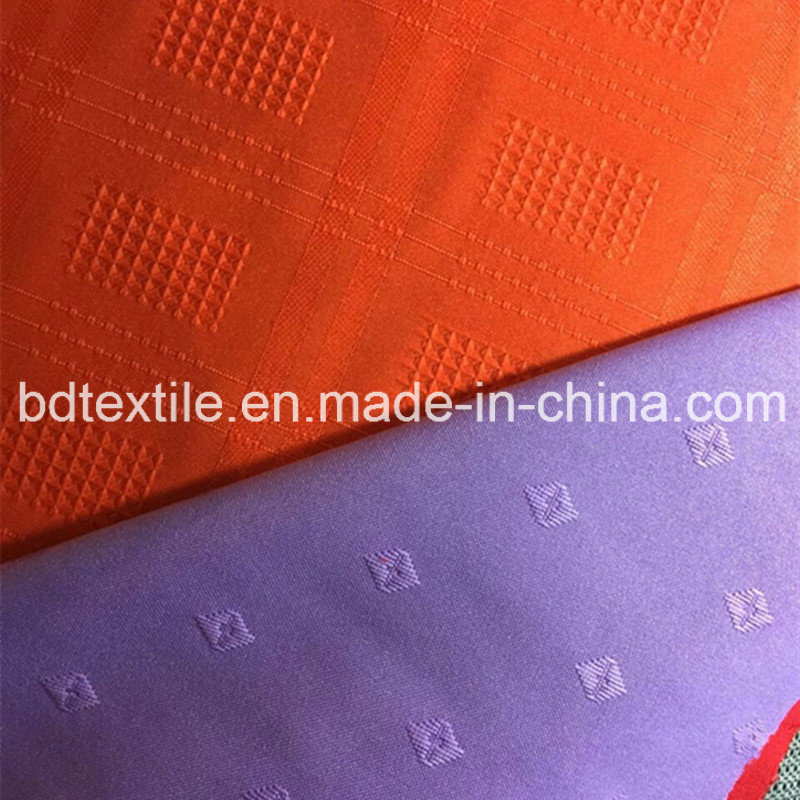Jacquard Plaid Polyester Mini Matt Fabric for Garment