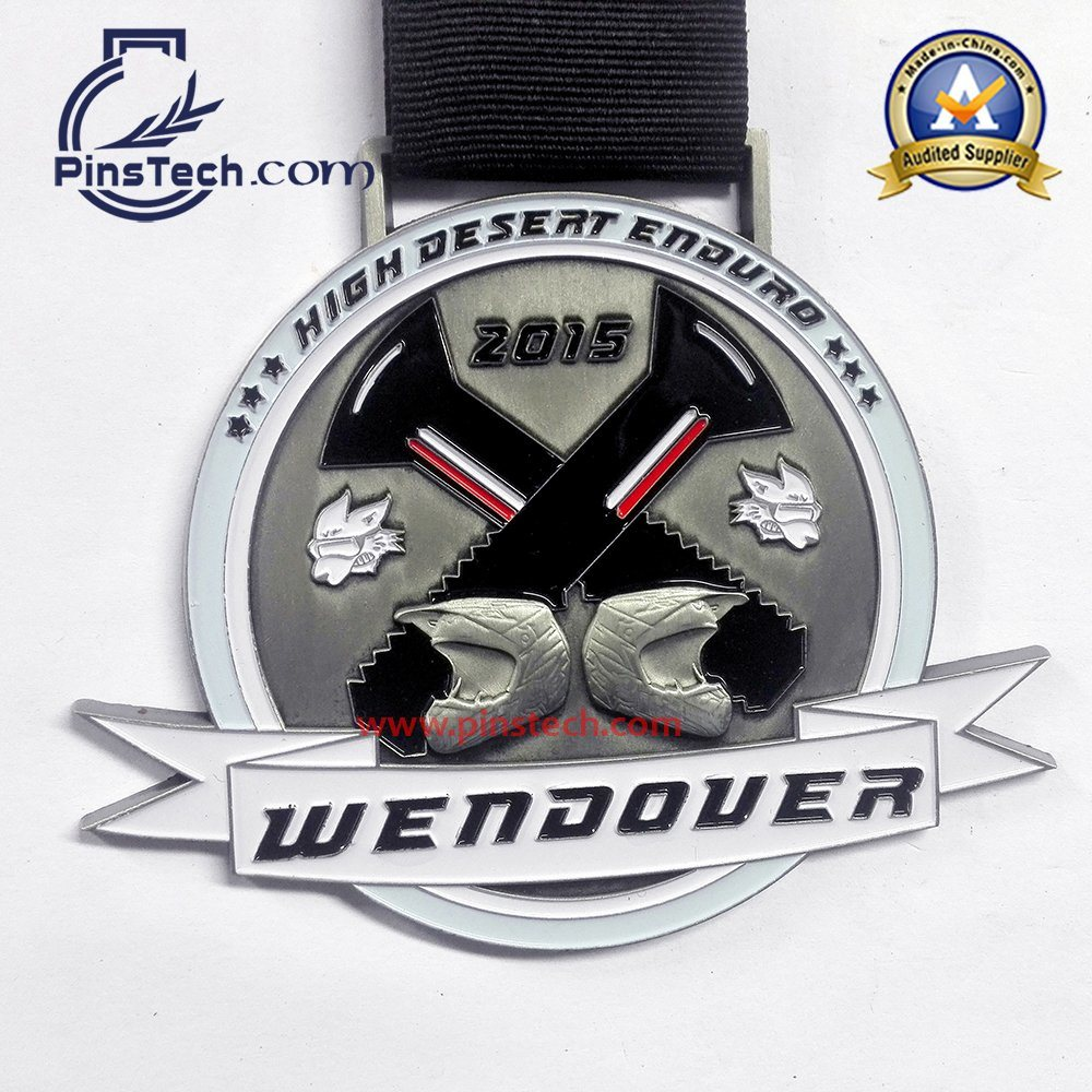 Custom 3D Relief Medal for Triathlon Game
