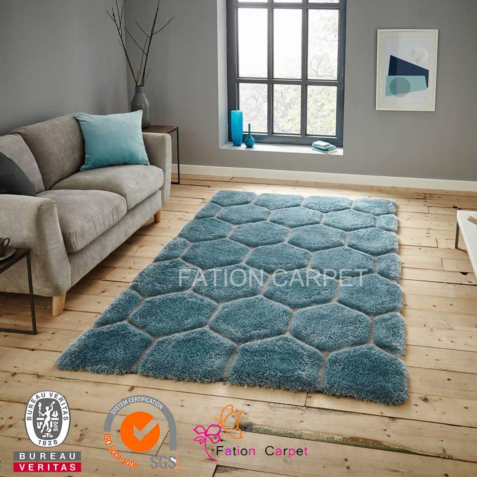 Hand Tufted Shaggy Carpet Modern Design Wool Carpet