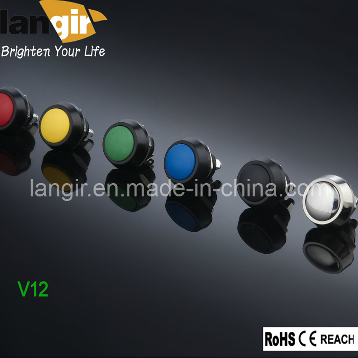 V12 Momentary Open 12mm Vandal Resistant Push Button Switch (V12-B-A) , Push Button Switch